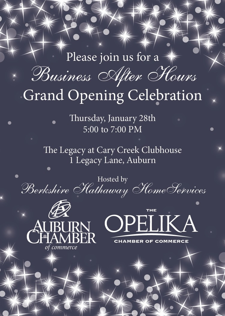 Attention Auburn & Opelika Chamber Members: Mark Your Calendars for Business After Hours on January 28th!