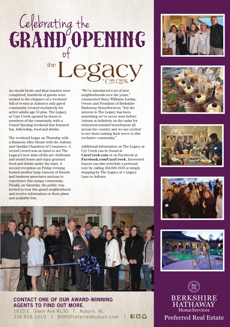 The Legacy at Cary Creek Opens to Grand Reception Weekend