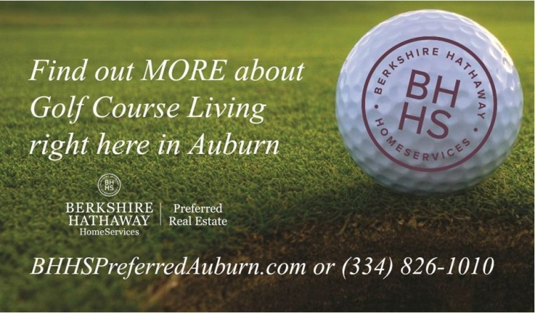 New houses and golf course lots for sale in Auburn AL
